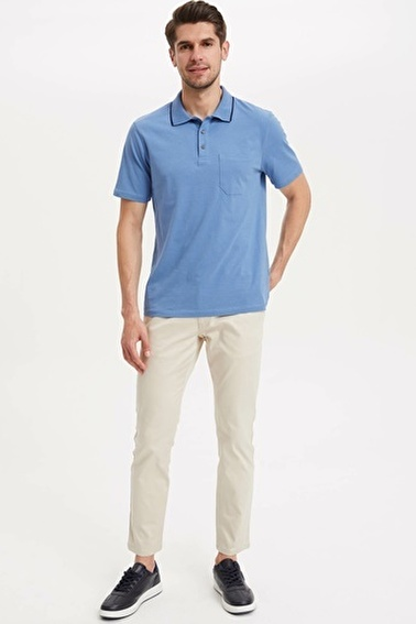 DeFacto Relax Fit Polo T-shirt Mavi